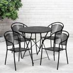 30rd Black Fold Patio Set Co 30rdf 03chr4 Bk Gg Foldingchairs4less Com