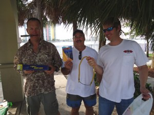 Jim Fife holding up the Innerloc SP3 tip ($75 value)that he received at the PB Freedivers tournament sponsored by Foldspear