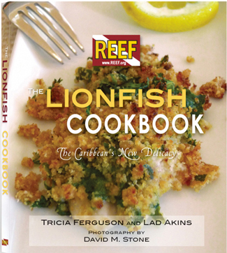 Reef lionfish cookbook cover photo