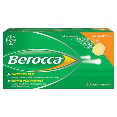 BEROCCA EFFERVESCENT TABS ORANGE (30)