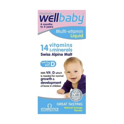 VITABIOTICS WELLBABY MULTIVITAMIN LIQUID (150ML)