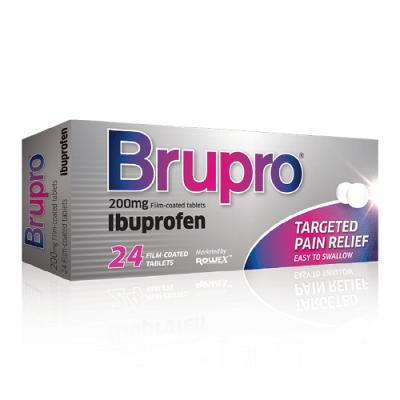 BRUPRO TABLETS 200MG IBUPROFEN (24)