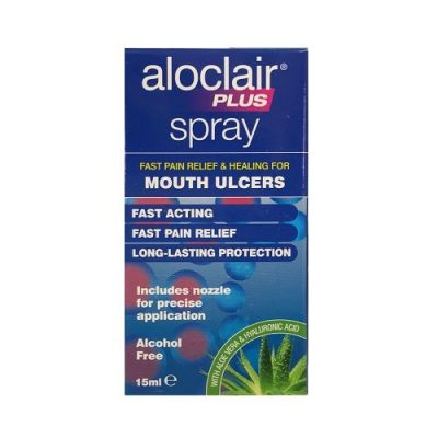 ALOCLAIR PLUS MOUTH ULCER SPRAY (15ML)