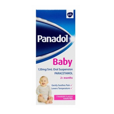 PANADOL BABY 120MG/5ML ORAL SUSPENSION PARACETAMOL SUGAR-FREE (100ML)
