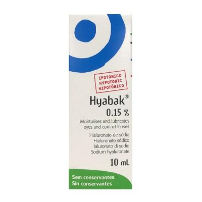 HYABAK 0.15% EYE DROPS (10ML)