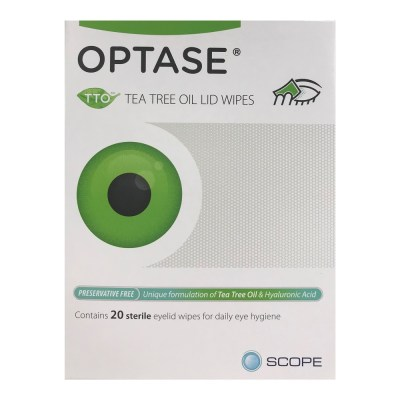OPTASE TTO TEA TREE OIL LID WIPES (20)