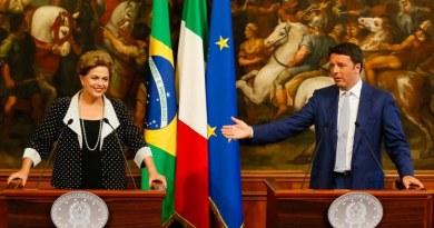 Foto: Roberto Stuckert Filho/PR A presidenta Dilma Rousseff, ao lado do primeiro ministro da Itália, Matteo Renzi, após reunião em Roma