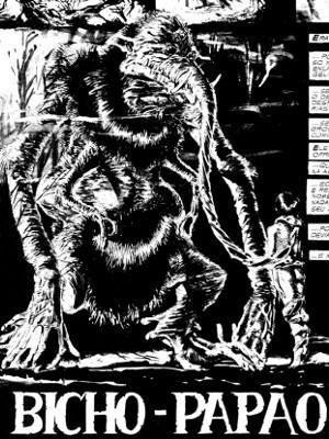 Obras de horror de Joe Bennett foram publicadas nos anos 90 e tinham margens negras, para alertar o público sobre o conteúdo adulto (Foto: Joe Bennett / Arquivo Pessoal)