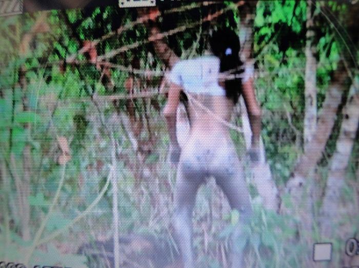 Corpo da Jovem pendurado enforcada na árvore.