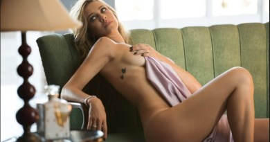 """Luana aparece coberta por lençol em foto de seu ensaio nu para a """"Playboy"""""""