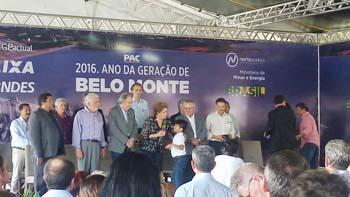 Dilma Rousseff e comitiva durante inauguração da Usina de Belo Monte
