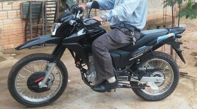 Motocicleta roubada.