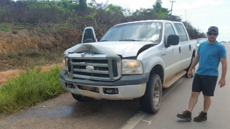 Veiculo motorista envolvidos no acidente