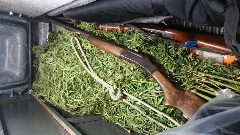 Armas apreendidas com os suspeitos foram encaminhadas à Delegacia de Polícia Civil de Monte Alegre — Foto: Polícia Militar/Divulgação