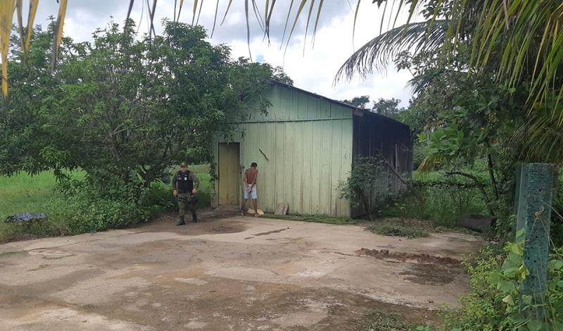 Só um homem estava no local(Foto:Jornal Folha do Progresso.
