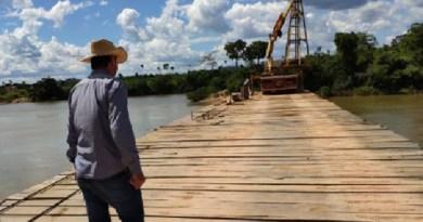 Ponte sobre rio jamanxim em Jardim do Ouro terá 339 metro e toda de madeiria (Foto:Prefeitura de