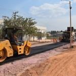 Prefeitura realiza pavimentação asfáltica da rua de acesso a rodoviária em Novo Progresso