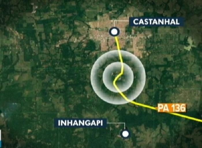 Sítio alvo de ataque fica entre os municípios de Castanhal e Inhangapi, no PA. — Foto: Reprodução / TV Liberal