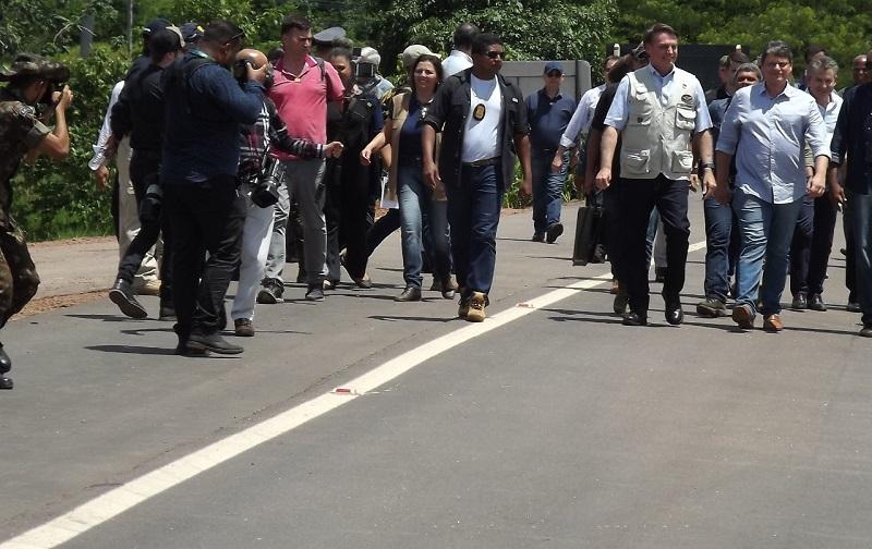 Presidnete Jair Bolsonaro e Ministro Tarciso (Foto:Welington Tenorio)