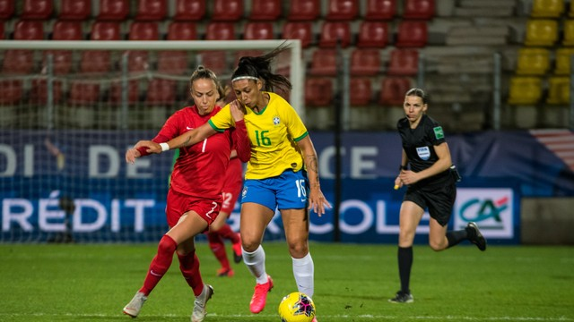 Brasil x Canadá Torneio da França (Foto: A2M/CBF)