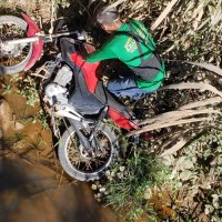 Motociclista cai em ponte em Novo Progresso