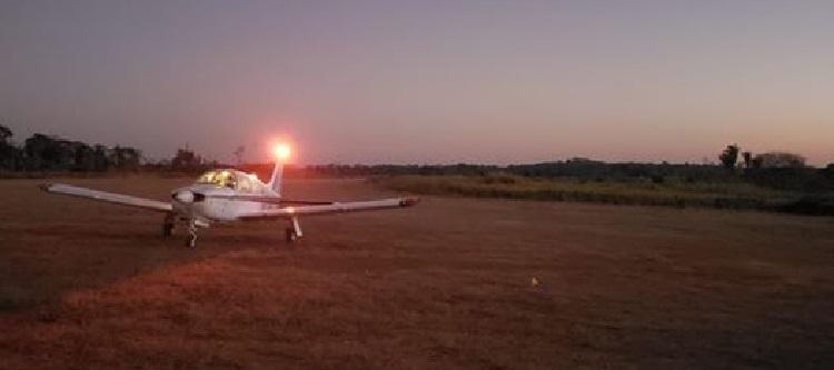 Aeronave levou o corpo do empresário (Foto:Facebook)