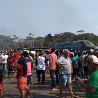 Indígenas protestam com a presença do Ministro do Meio Ambiente em Jacareacanga