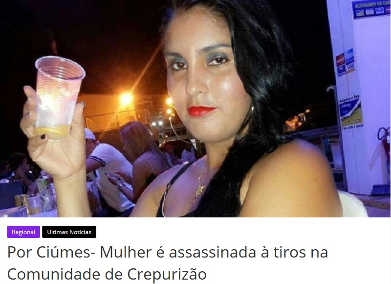 Feminicídio - Keílleane da Silva, de 28 anos, era moradora do Bairro da Paz na cidade de Itatiuba, foi assassinada com vários tiros com homem que convivia. A motivação segundo testemunhas foi ciúmes. (Foto:Reprodução)