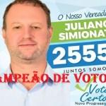 Ex-secretário de Meio Ambiente, Juliano Simionato é o vereador mais votado de Novo Progresso