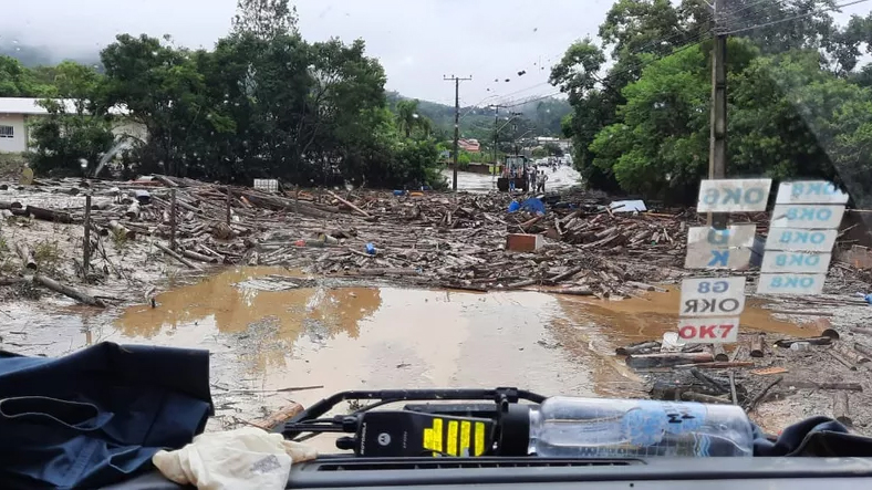 Presidente Getúlio, no Vale do Itajaí Foto: Divulgação/Corpo de Bombeiros de Santa Catarina