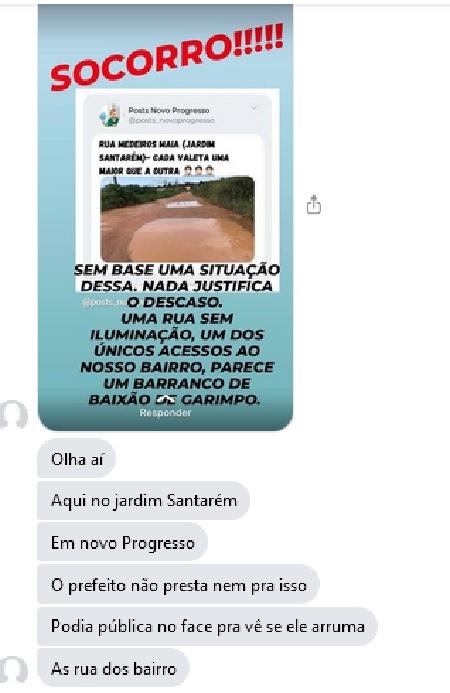 (imagem - Jornal Folha do Progresso via messenger)