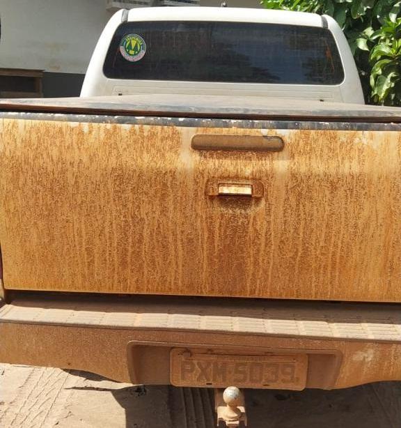 Veiculo usado para transportar os explosivos (Foto:Reprodução