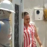 Equipe vai cortar energia na casa de homem internado com covid-19 e é impedida por mulher