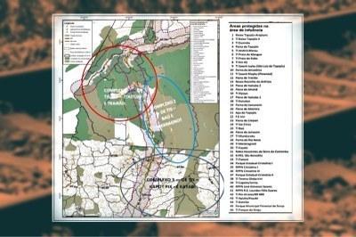 Complexos territoriais e interceptação da EF-170 - Arte: ANTT