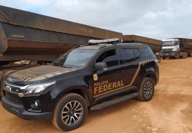 Polícia Federal apreende 100 toneladas de minério manganês em Redenção