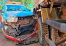 Viatura da PM colide contra caminhão-tanque em Itaituba
