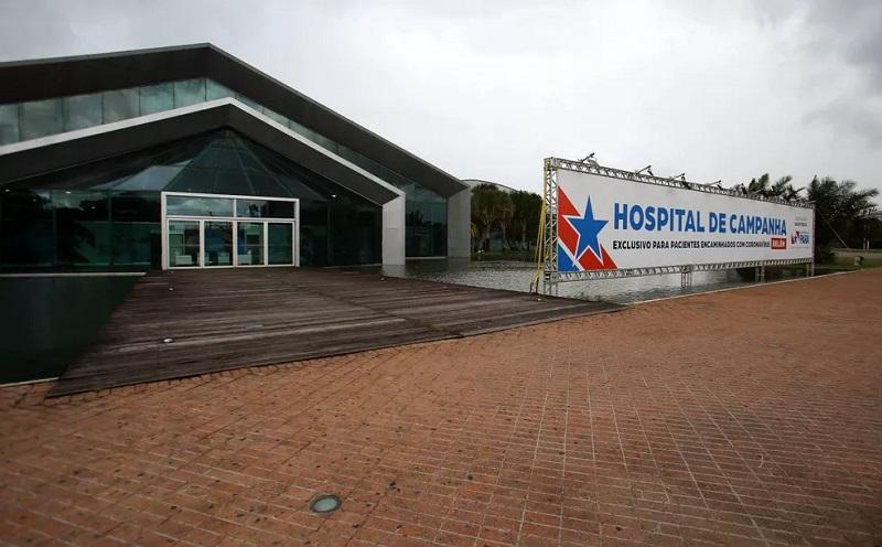 Hospital de Campanha de Belém do Pará no Hangar Centro de Convenções — Foto: Bruno Cecim/Agência Pará