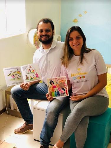 Vivian May e Rodrigo Vaz, idealizadores do @historinhaspracontar - Foto de divulgação - Acervo Pessoal (1)