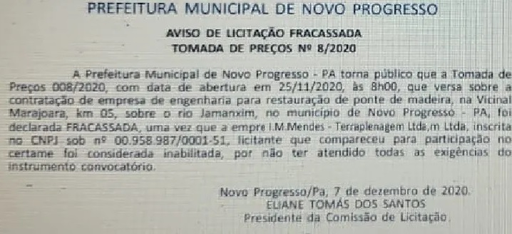 Fonte:Prefeitura