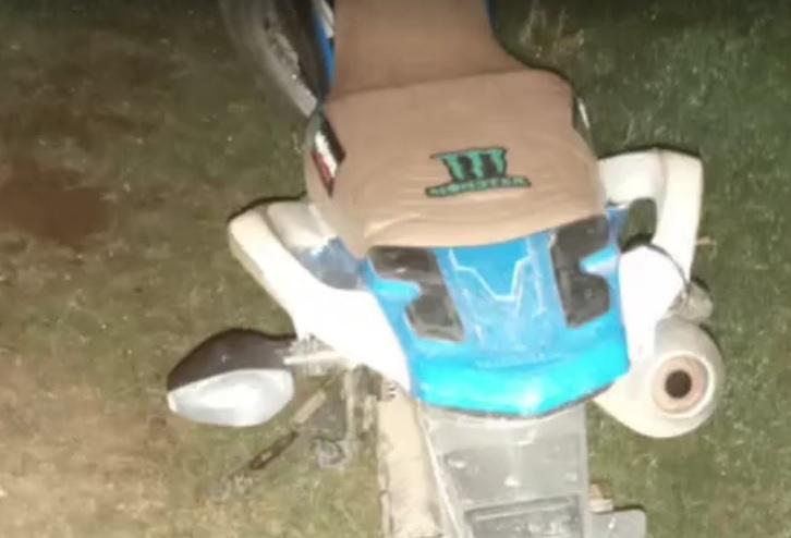 Moto usada nos roubos (foto:Reprodução)