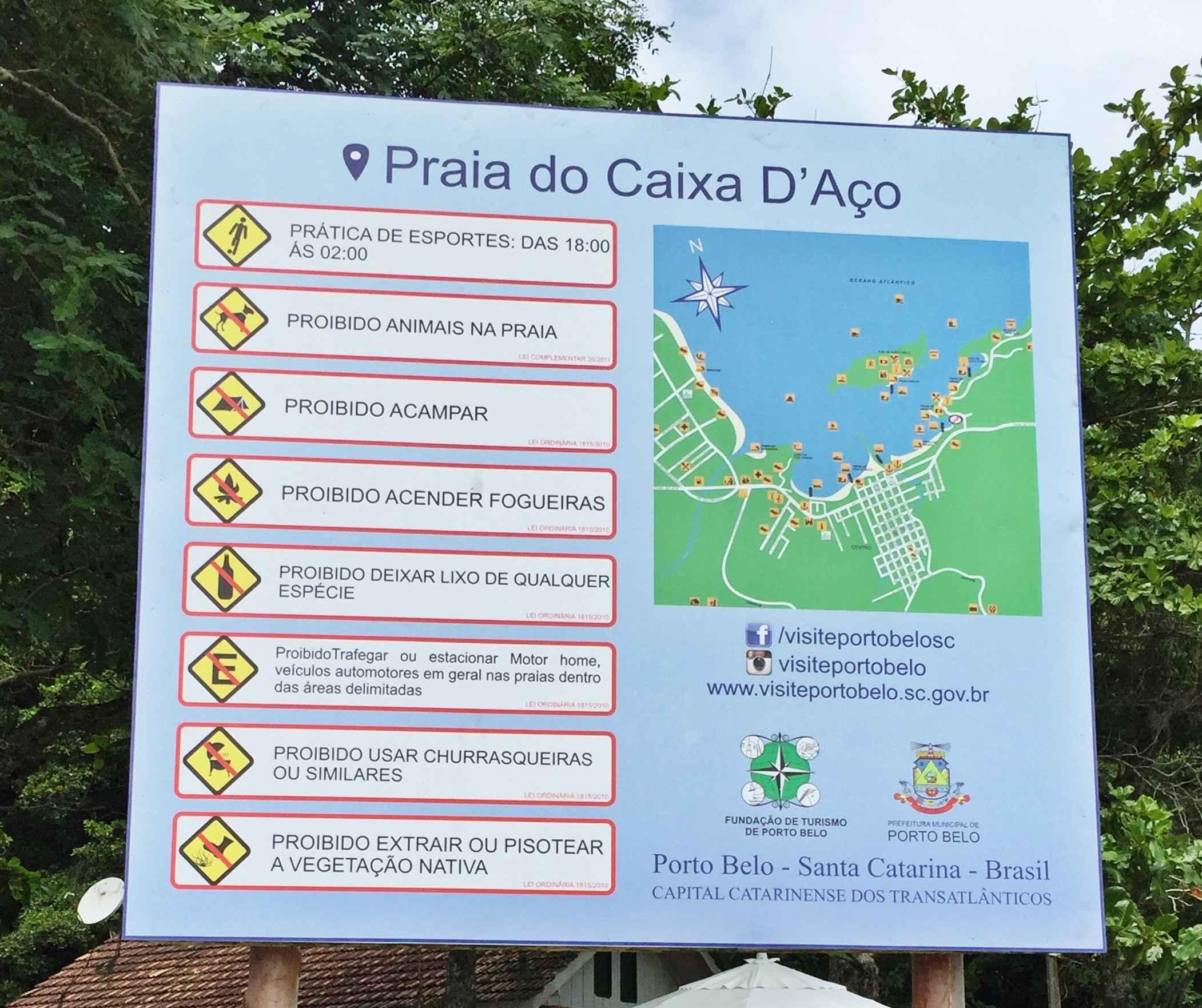 Porto Belo instala nova sinalização de praia  245c7a73df2c4