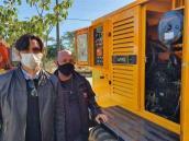 Lucas Arruda e Pablo Colombo, gerente Manutenção e Transporte