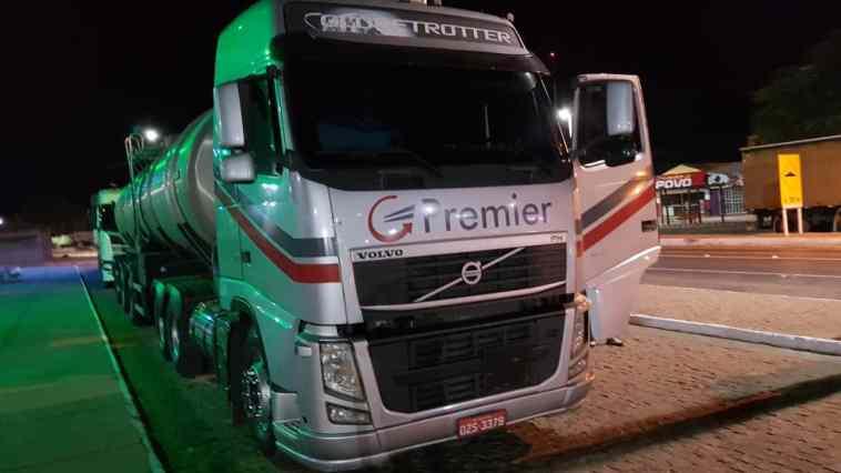 Caminhão apreendido na operação Posto Legal. Foto: Divulgação/Sefaz