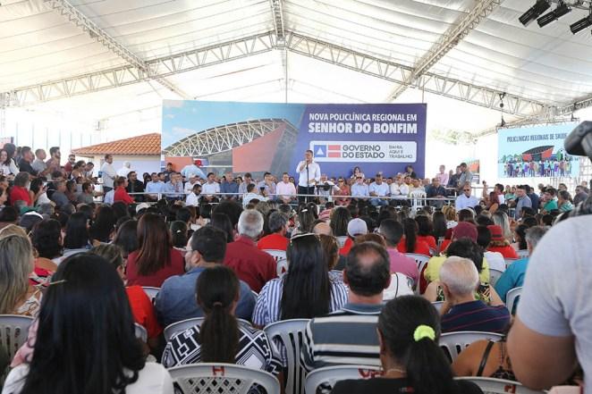 Governador Rui Costa inaugura a 14ª Policlínica Regional de Saúde em Senhor do Bonfim. Foto: Paula Fróes/GOVBA