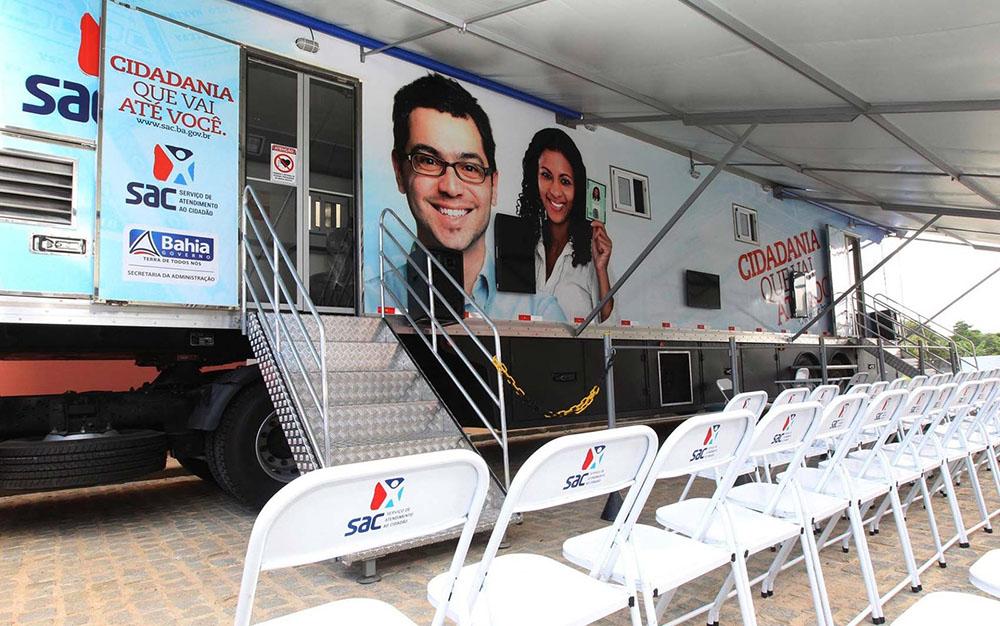 SAC Móvel fica no município de Lauro de Freitas até 14 de fevereiro