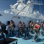 Aula de bike no Fitness da Costa Cruzeiros. Foto: Cléber Miranda