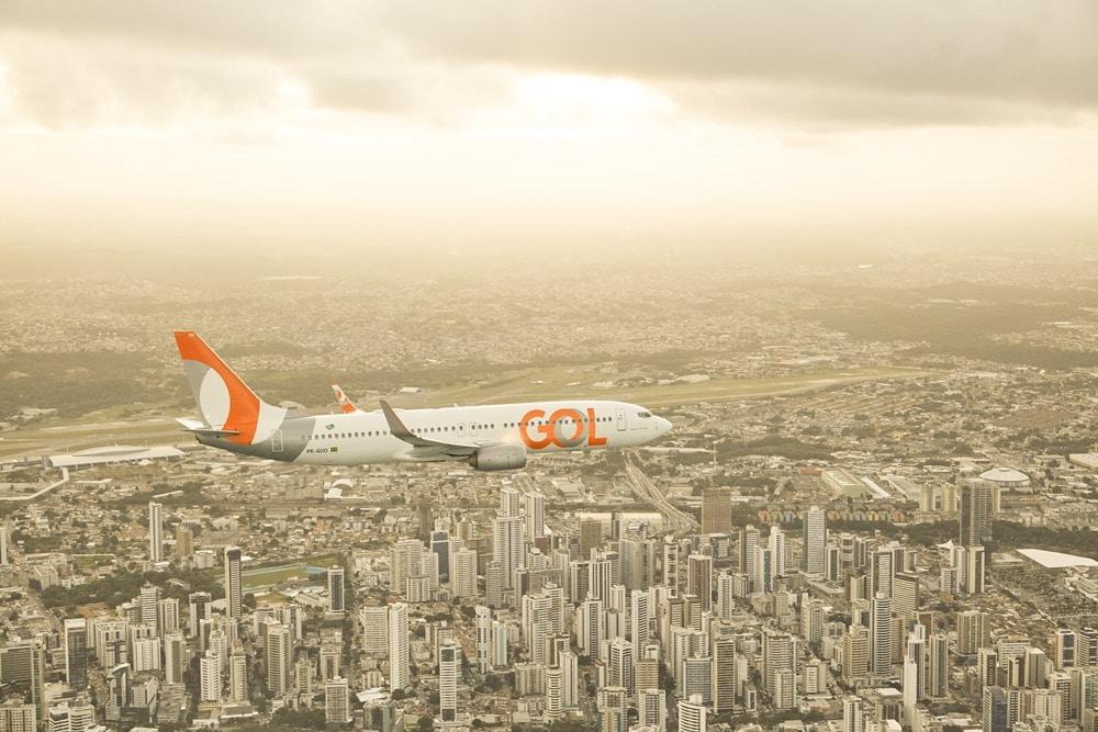 GOL retoma operação da rota Recife/Salvador/Recife
