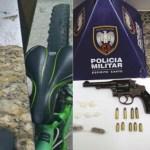 PM apreende três armas no fim de semana, mas assaltos continuam assustando comerciantes