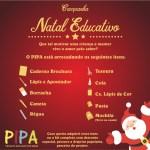 """Campanha """"Natal Educativo"""" arrecada material escolar para crianças carentes em Guarapari"""