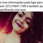 Família pede ajuda para encontrar adolescente desaparecida em Guarapari